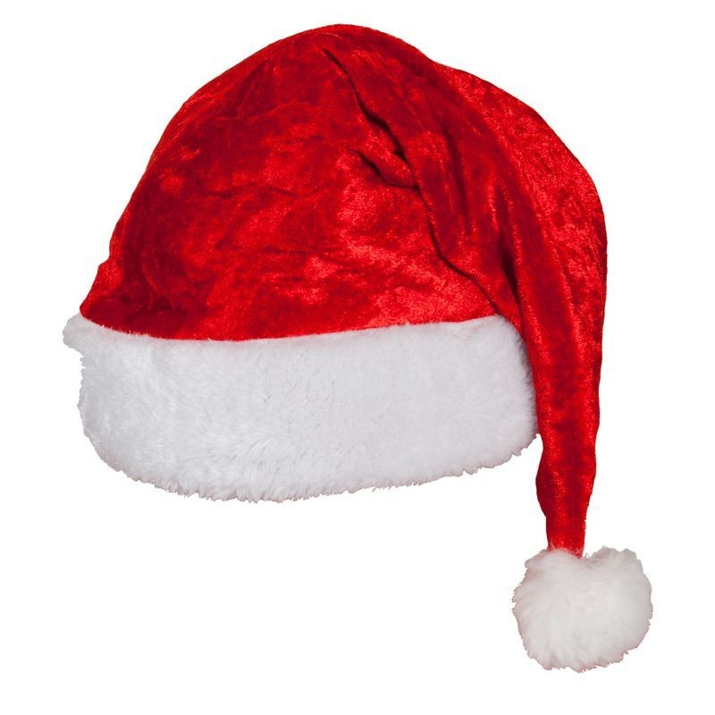 Adult Unisex Velvet Santa Hat - Good Quality Christmas Hats