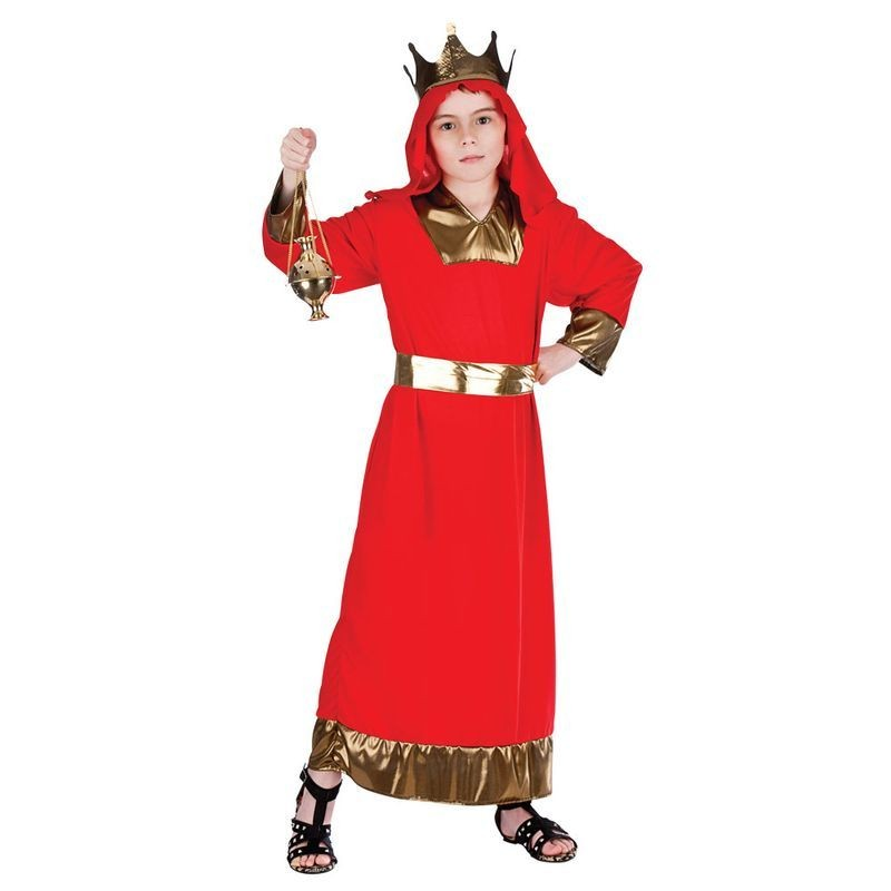 Childs Red Nativity Wise Man (Balthazar) Christmas Fancy Dress