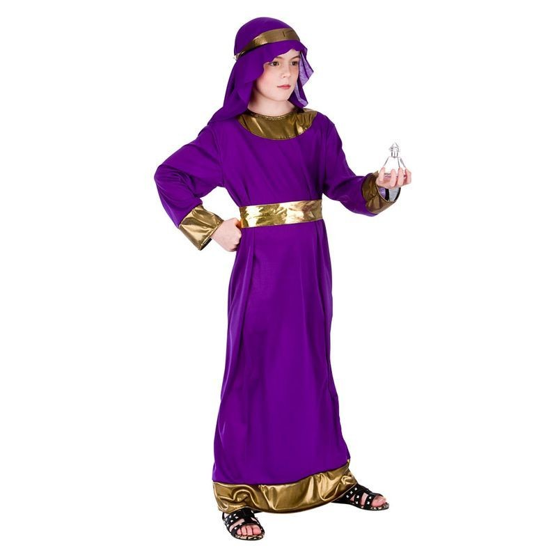 Childs Purple Nativity Wise Man (Melchior) Christmas Fancy Dress