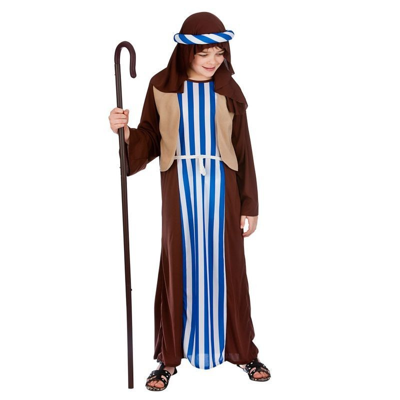 Childs Brown Joseph Nativity Christmas Fancy Dress Costume