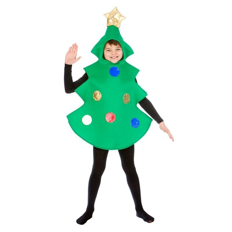 Childs Green Christmas Tree Fancy Dress Costume