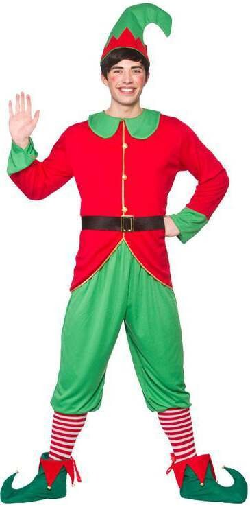 Men'S Workshop Elf Christmas Fancy Dress Costume