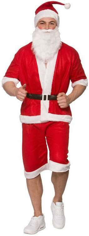 Mens Running/Holiday Santa Christmas Fancy Dress Costume