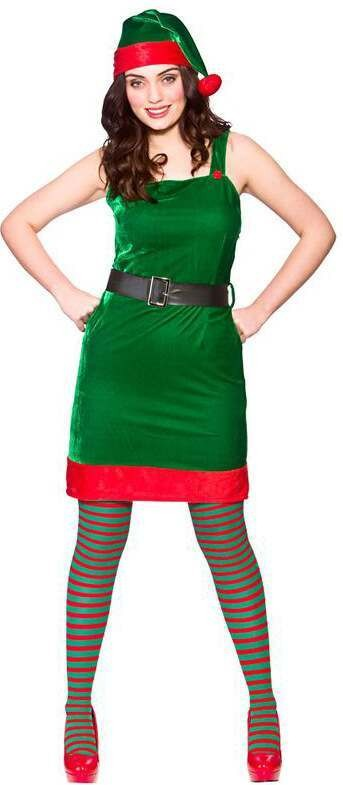 Ladies Santa'S Lil Helper Christmas Fancy Dress Costume