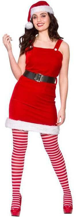 Ladies Santa Baby Christmas Fancy Dress Costume