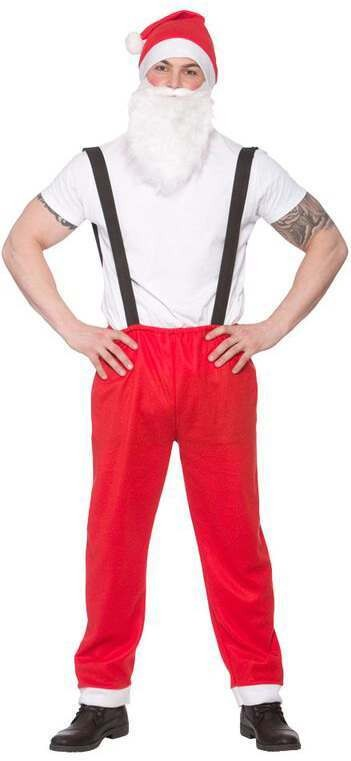 Mens One Size Workshop Santa Christmas Fancy Dress Costume