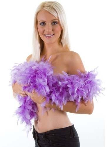 Supersoft Feather Boa Purple 60Gm/1.7M - Fancy Dress Ladies