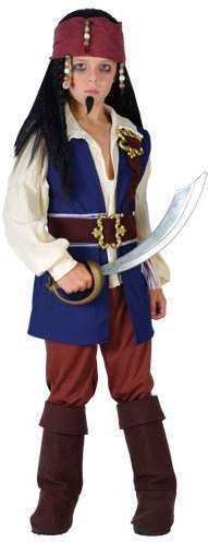 Boy'S Caribbean Pirate Fancy Dress Costume