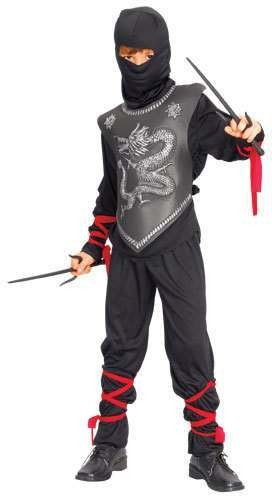 Boy'S Dragon Ninja Fancy Dress Costume
