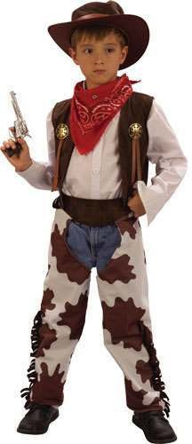 Boy'S Western Cowboy Fancy Dress Costume