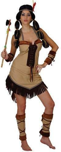 Indian Princess Fancy Dress Costume Ladies (Cowboys/Indians)