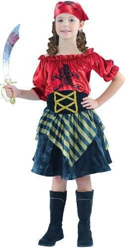 Swashbuckler Pirate Girl Fancy Dress Costume Girls (Pirates)