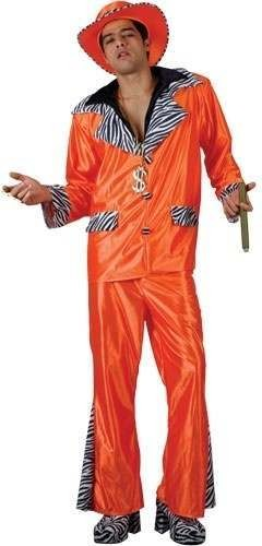 Street Level Pimp - Orange Fancy Dress Costume Mens (Pimp)