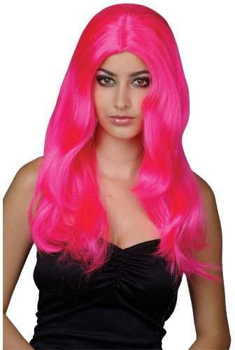 Glamour Wig Pink - Fancy Dress Ladies