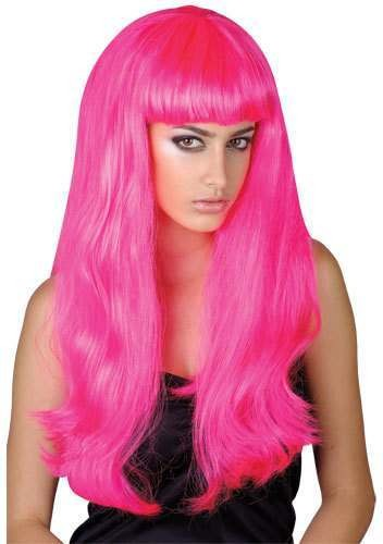 Pink Beauty Wig - Fancy Dress Ladies