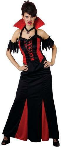 Bloodthirsty Vampiress Fancy Dress Costume Ladies (Halloween)