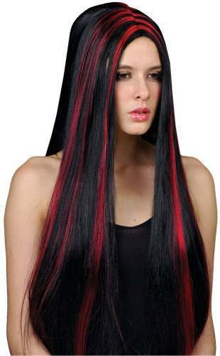 Vampiress Wig - Fancy Dress Ladies (Halloween)