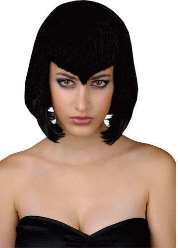 Vamp Babe Wig - Fancy Dress Ladies (Halloween)