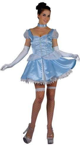 Saucy Cinders Fancy Dress Costume Ladies