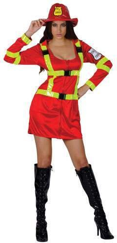Ladies Foxy Firefighter Fancy Dress Costume