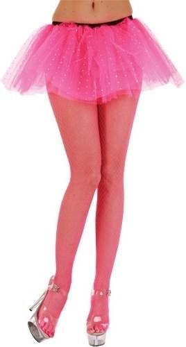 Micro Diamond Tights / Hot Pink - Fancy Dress Ladies