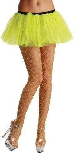 Diamond Tights / Neon Yellow - Fancy Dress Ladies