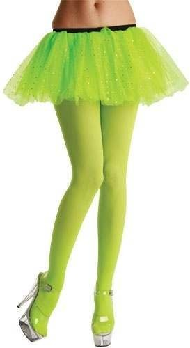 Opaque Tights / Neon Green - Fancy Dress Ladies
