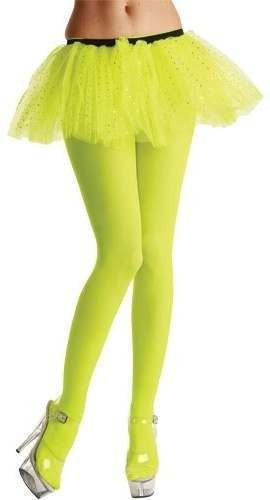 Opaque Tights / Neon Yellow - Fancy Dress Ladies
