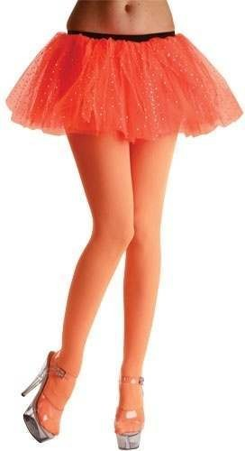 Opaque Tights / Neon Orange - Fancy Dress Ladies