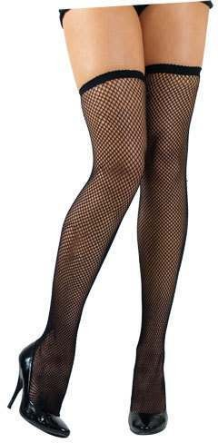 Fishnet Thigh Highs / Black - Fancy Dress Ladies