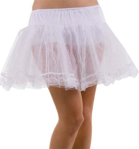White Petticoat - Fancy Dress Ladies