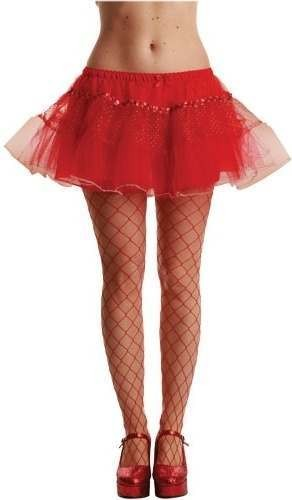 Sequin And Glitter Tutu Red - Fancy Dress Ladies