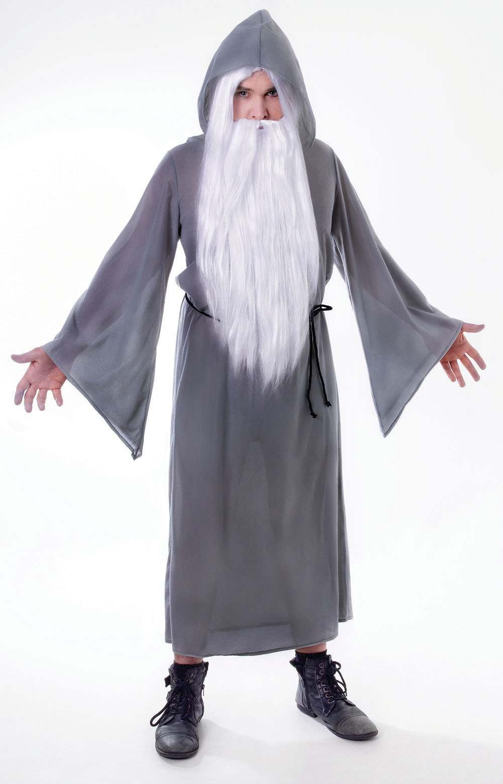 Mens Grey (Wizard Cloak) Fancy Dress Costume