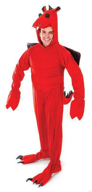 Red Dragon Jumpsuit Costume
