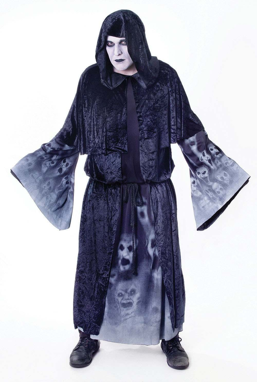 Mens Forgotten Souls. Male Halloween Outfit - One Size (Black)