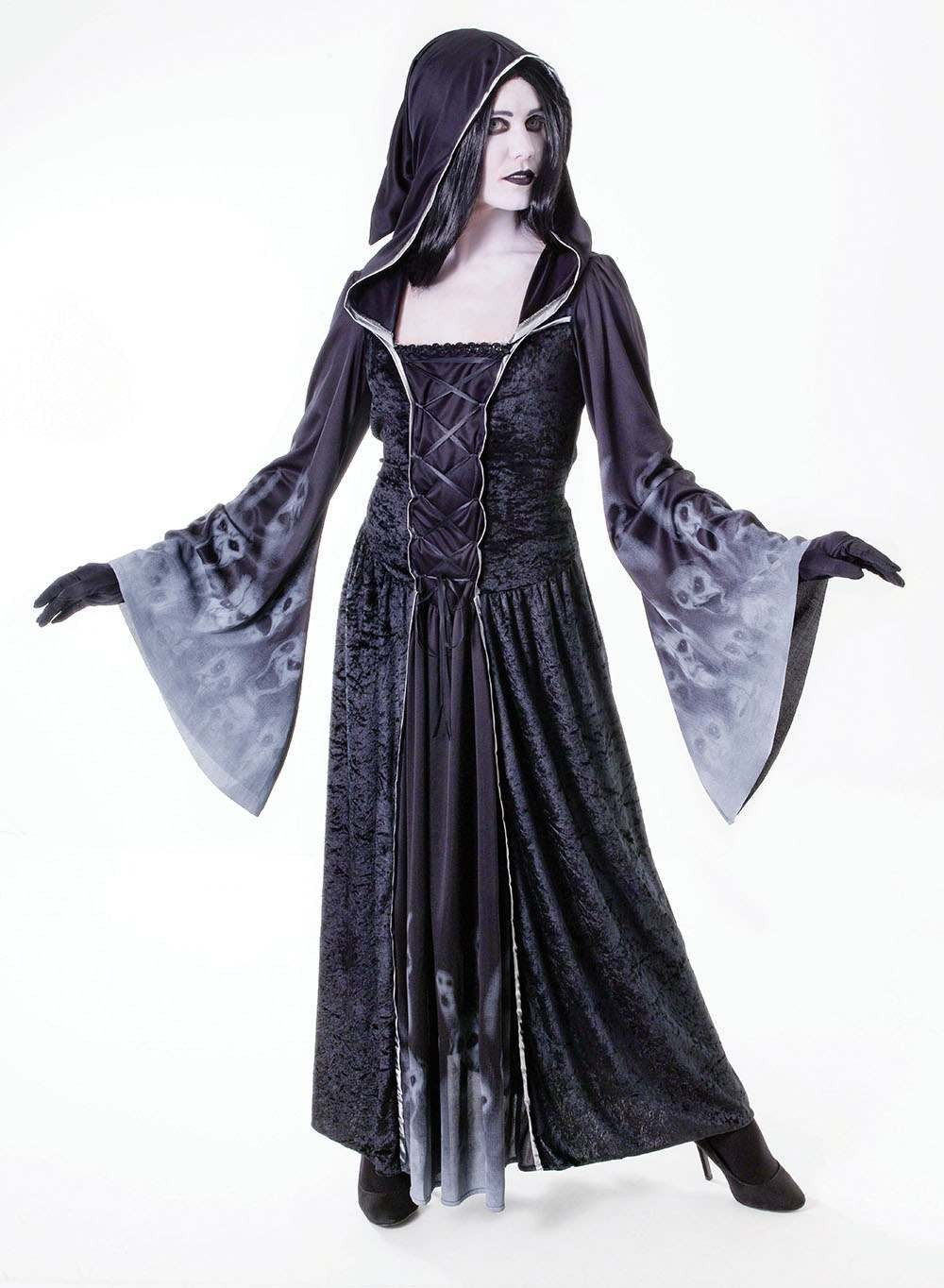Ladies Forgotten Souls. Female Halloween Outfit - One Size (Black)