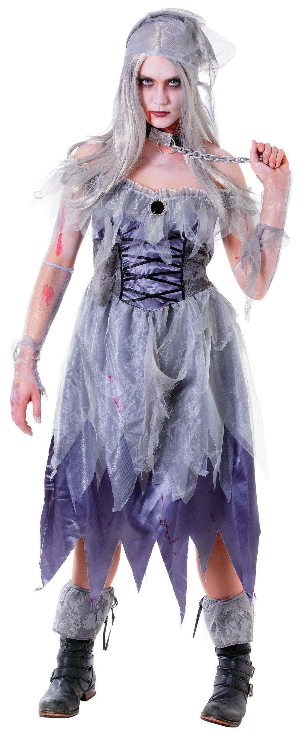 Zombie Pirate Lady Fancy Dress Costume