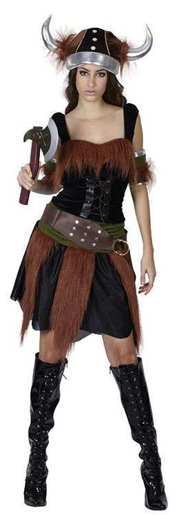 Viking Lady Fancy Dress Costume