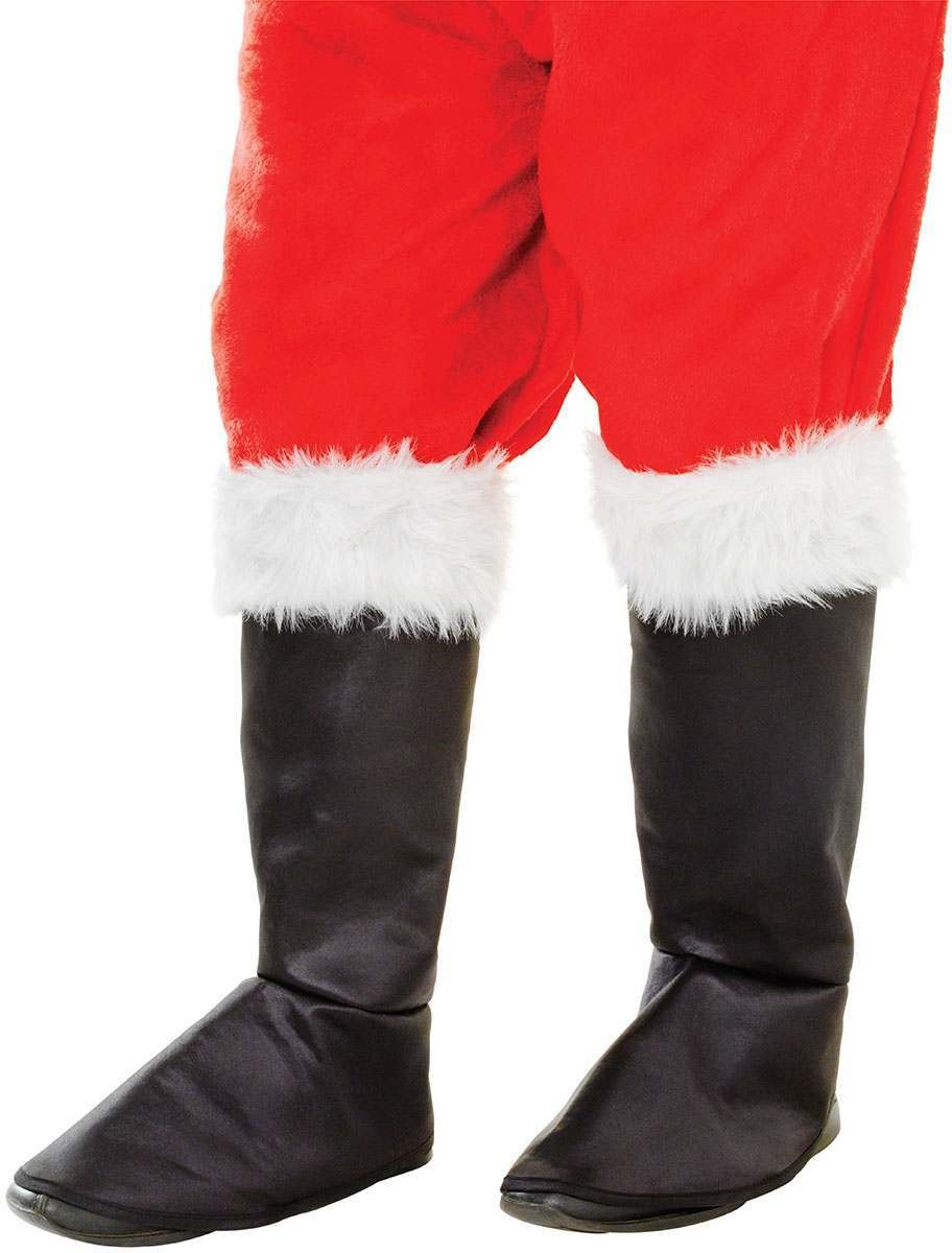 Santa Boot Tops. Fabric Deluxe/Fur Top Accessories