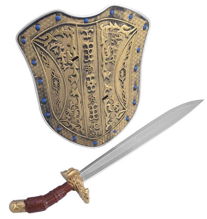 Crusader Knight Sword + Sheild Set