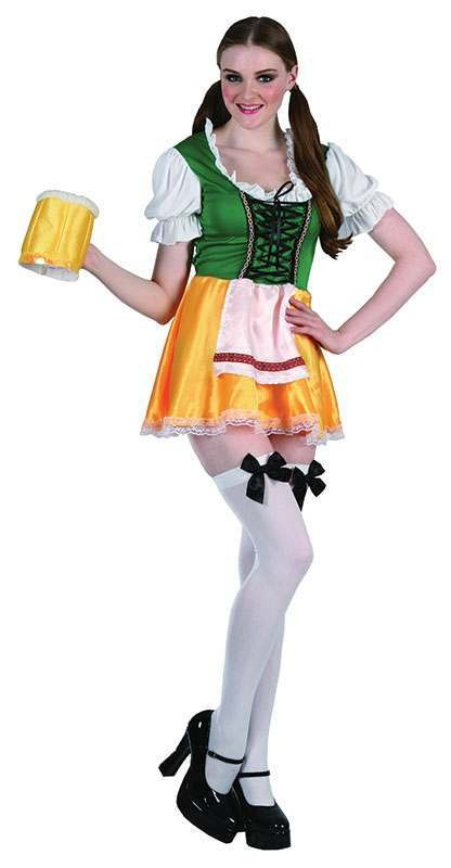 Ladies Beer Lady Bavarian Outfit - One Size (Red, White, Black)