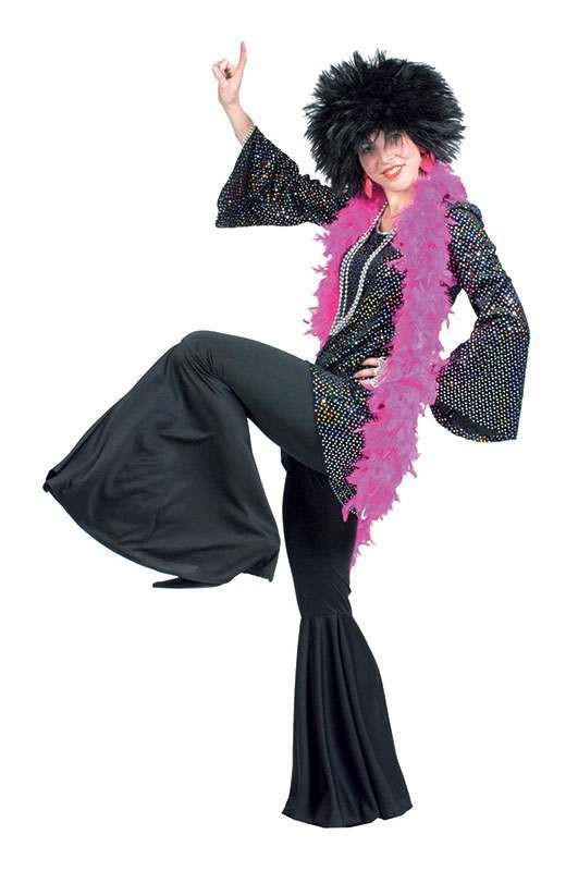 Hippy Trousers Black (Female) Fancy Dress Costume
