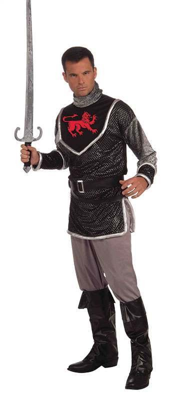 Mens Sir Lancelot Medieval Outfit - One Size (Black)