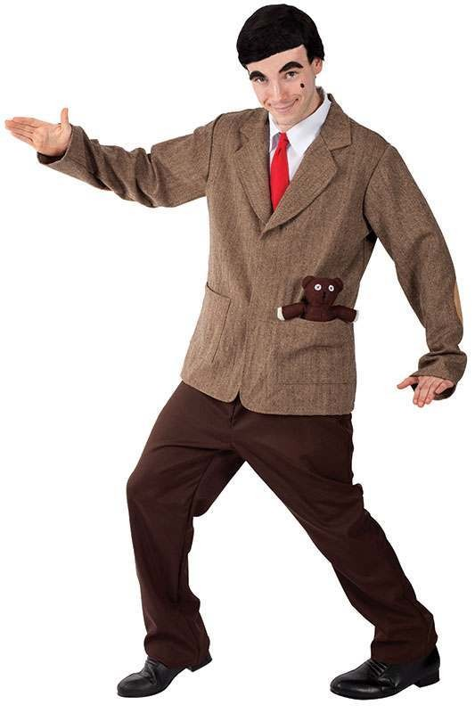 Mens Mr Bean (-Size) Tv Outfit - One Size (Brown)
