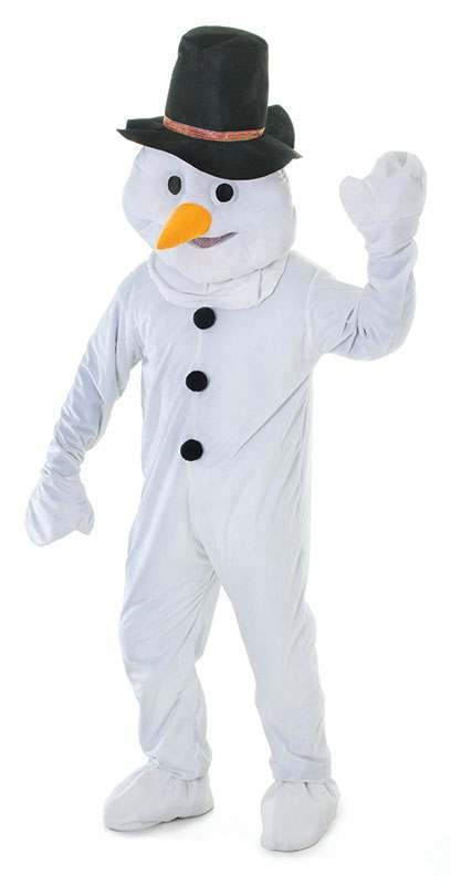 Adult Unisex Snowman. Big Head Outfit - One Size (White)