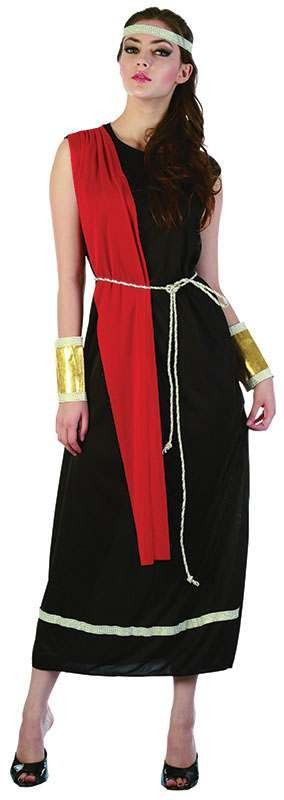 Ladies Goddess. Black Toga Greek Outfit - One Size (Black)