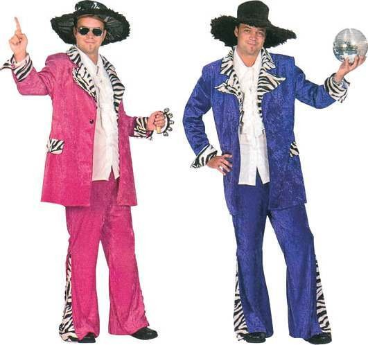 Disco Daddy Purple Fancy Dress Costume