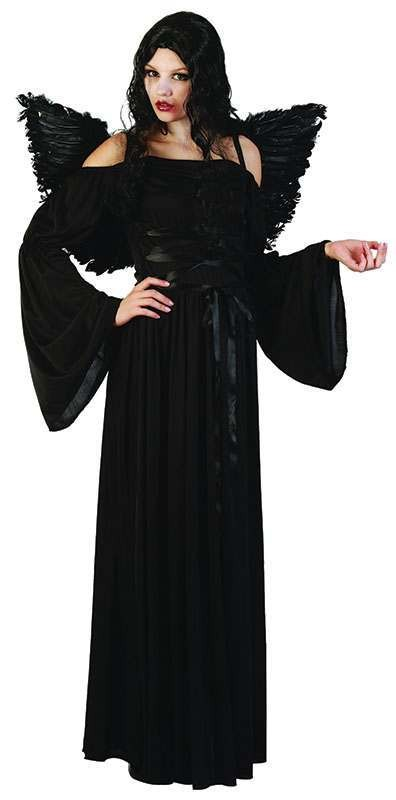 Ladies Black Devil Halloween Outfit - One Size (Black)