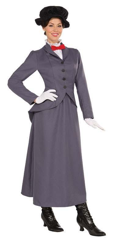 Ladies Nanny Film Outfit - One Size (Grey)
