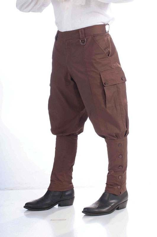 Mens Steampunk Trousers Outfit - One Size (Brown)
